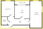 Двух - комнатная квартира